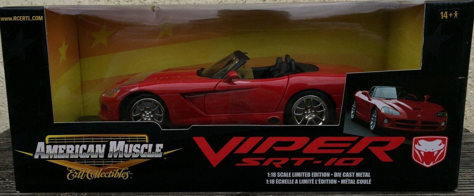 1 18 Dodge Viper SRT-10 SRT-10 SRT-10 Rojo Nuevo American Muscle Ertl 682c24
