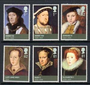 2009 HOUSE OF TUDOR Kings & Queens Stamp Set MNH SG2924-2929 GB