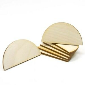 Circle Cutout Half - 1 inch x 1/2 inch unfinished wood (HFCR02)