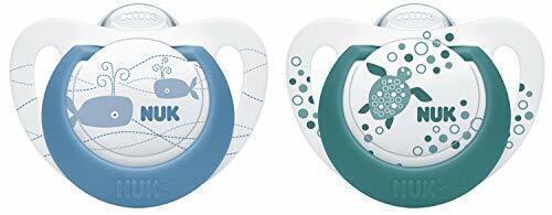 NUK Genius Color Silikon-Schnuller 2 Stück 6-18 Monate r kiefergerechte Form