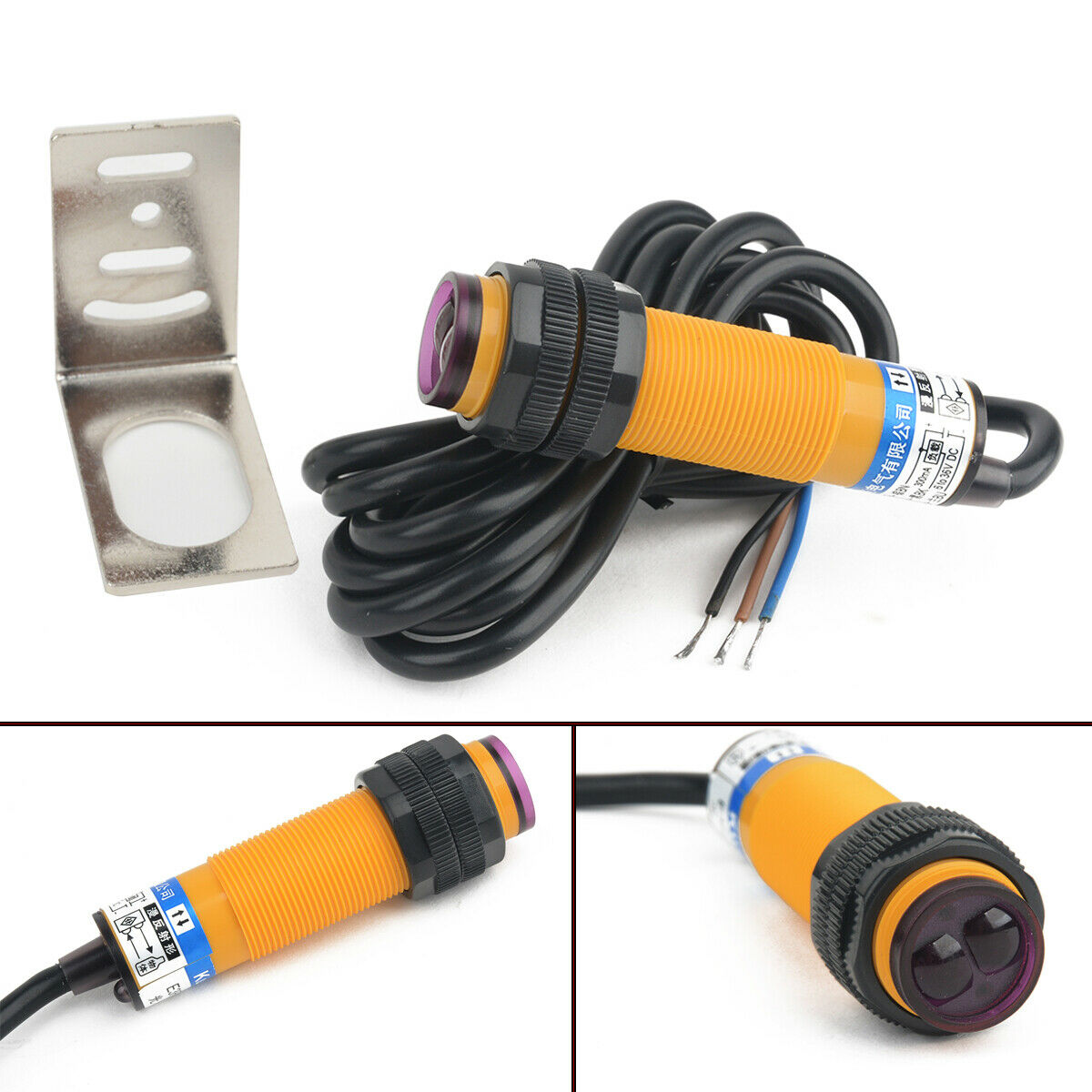 DIGITEN 12V 4 Digital Red LED People Traffic Counter+Photoelectric Infrared Detector Store