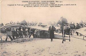 CPA-92-COURSE-D-039-AVIATION-PARID-MADRID-1911-ISSY-LES-MOULINEAUX-L-039-APPAREIL-MORT