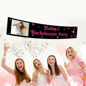 18th Legal Birthday Personalised Zebra Striped Canvas Party Banner Decorations