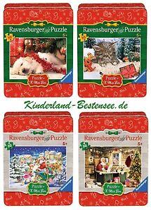 RAVENSBURGER 3D PUZZLE WEIHNACHTEN*CHRISTMAS PUZZLEBALL SET*4 x 27 TEILE*OVP