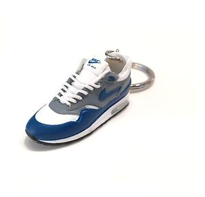 4a75cdd8b26 madxo   3D mini sneaker Keychain Air Max 1 OG WHITE BLUE nike REAL ...