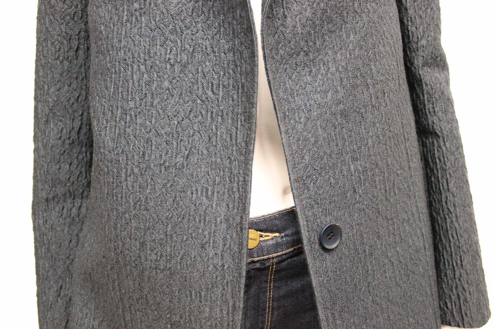 Nuovo  Bcbgmaxazria Bottone Unico Unico Unico Allungata Zip Posteriore Giacca in Blu 58be1e