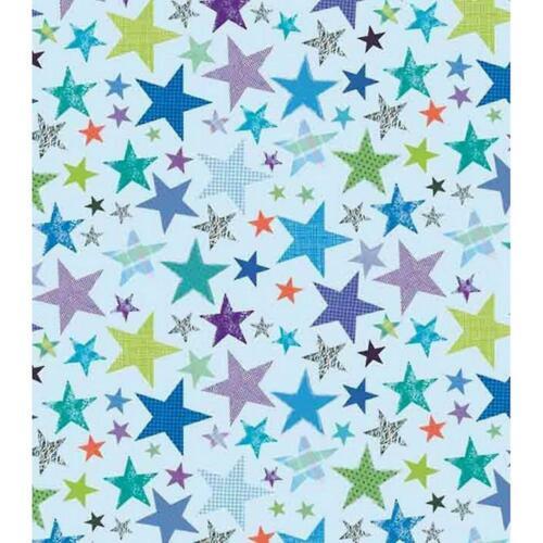 2 Feuilles Cadeau Papier Cadeau /& étiquette bleu décoré Étoiles Joyeux Anniversaire Garçon Homme