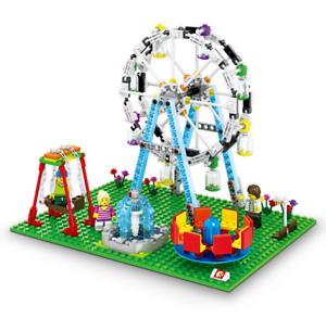 Sembo-Blocksteine-Riesenrad-Freizeitpark-Figur-Spielzeug-Modell-Geschenk-447PCS