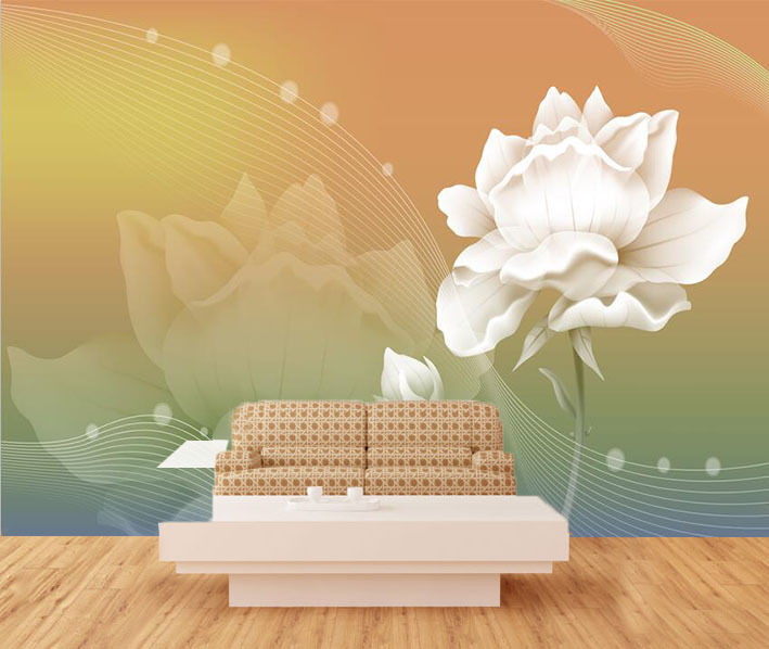 3D Simple Flowers White Art 389 Wall Paper Wall Print Decal Wall AJ WALLPAPER CA