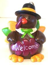 RESIN WELCOME TURKEY HALLOWEEN TRICK OR TREAT THANKSGIVING DECORATION