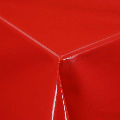 Plain Rouge Coquelicot Pvc Vinyle Table Tissu Matériau Look cuisine salle à manger moderne de Noël