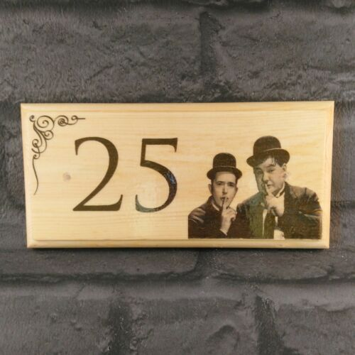 House Name Number Plaque Garden Gift Home Personalised Laurel And Hardy Sign