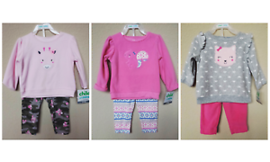 NWT-CARTER-039-S-BABY-GIRL-039-S-2-PC-FLEECE-OUTFIT-SET-SIZE-0-3M-18M