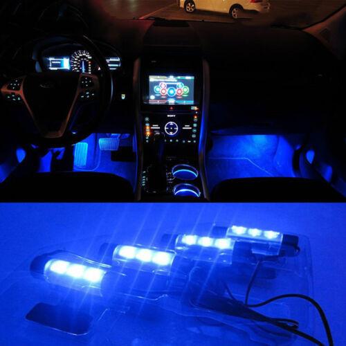 Interior Car Led Light SUV Atmosphere LED Lights Lamp Striped Blue Decoration