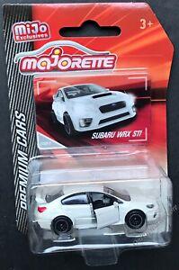 Majorette-Premium-Cars-Subaru-WRX-STI-1-64-White-Diecast-Car