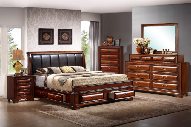 Esf Luxury Bedroom Set With Queen Bed For Sale Online Ebay
