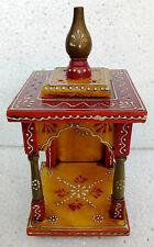 Wooden Handcrafted Hindu Temple Mandir Pooja Ghar Mandapam for Worship