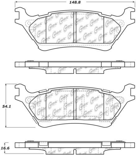 Disc Brake Pad Set-Premium Semi-Met Pads with Shim and Hardware Rear fits F-150