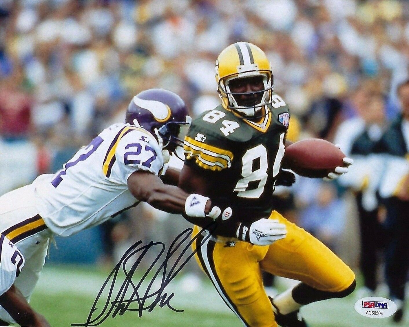 Sterling Sharpe Signed Green Bay Packers 8x10 Photo PSA AC60504