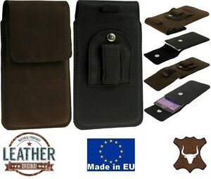 FLAP-GENUINE-LEATHER-POUCH-WITH-BELT-CLIP-AND-LOOP-CASE-COVER-FOR-MOBILE-PHONES