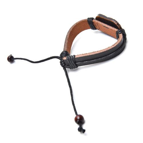 Women Men Indiana Tribal Wrap Genuine Leather Cuff Bracelet zewelry Hoary RFBDC