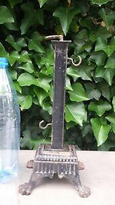 Pied, support ancien modifié pour ancien tournebroche mécanique