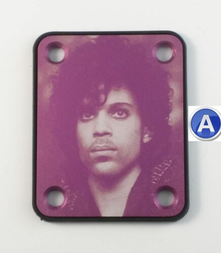 your choice of design Purple Prince tribute guitar neck plate