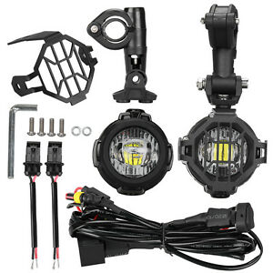 2x led auxiliary fog light protector cover wiring harness for bmw rh ebay com