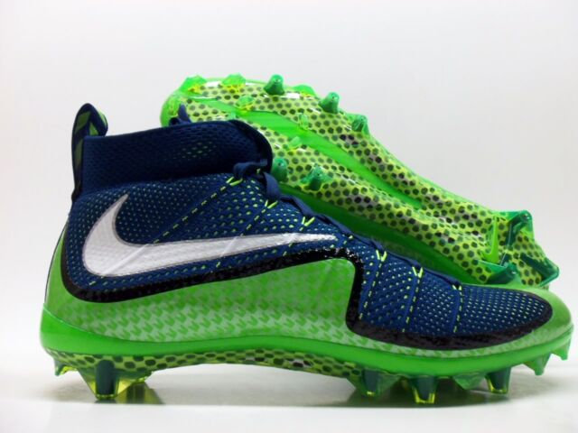 low priced 65df1 23213 NIKE VAPOR UNTOUCHABLE FOOTBALL CLEAT BRAVE BLUE GREEN SZ MEN S 12  698833- 413