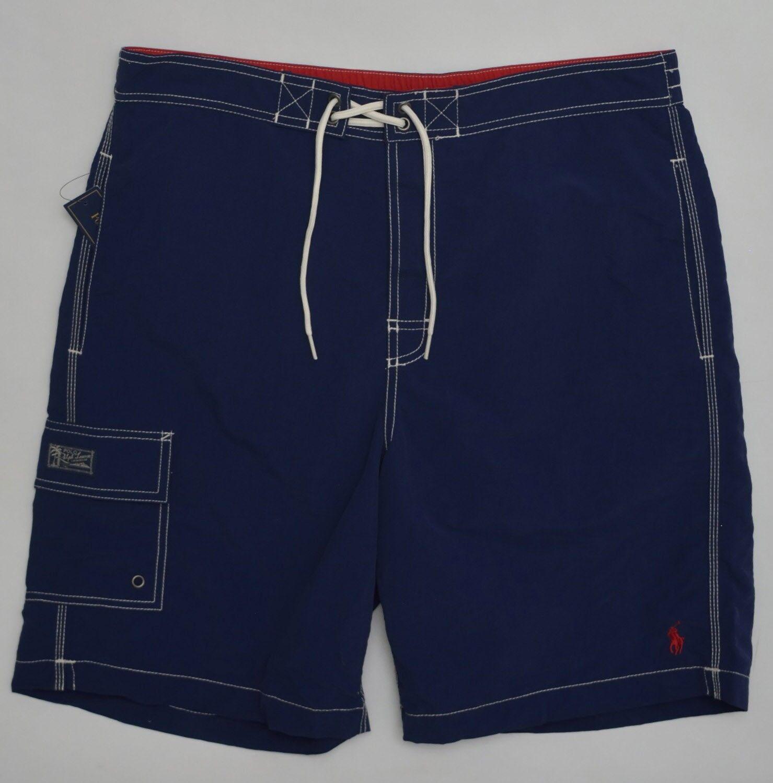 Men's POLO RALPH LAUREN Navy bluee Swimsuit Trunks Extra Large XL NWT NEW 4177633