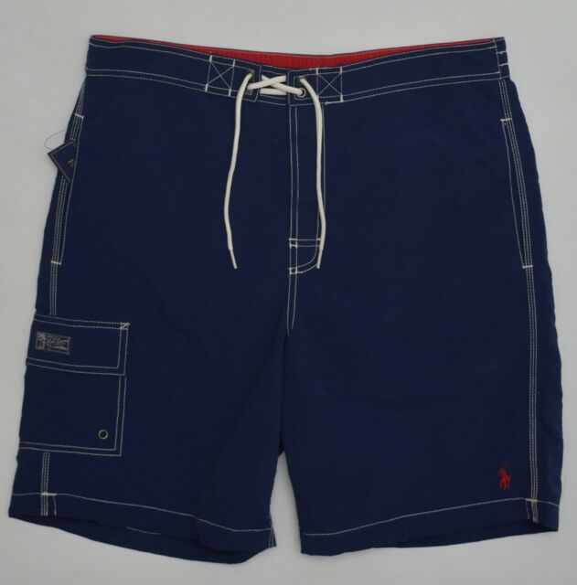 80d4b76b7d Men's POLO RALPH LAUREN Navy Blue Swimsuit Trunks Medium M NWT NEW Nice!  4177633