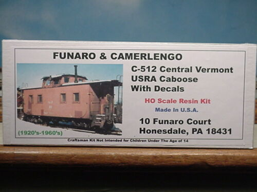 Funaro F/&C HO Central Vermont  USRA  Caboose  Kit  512