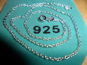 Tagged 925 KKHG 1.2 mm 20 in Sterling Silver Plated Ball Chain Necklace