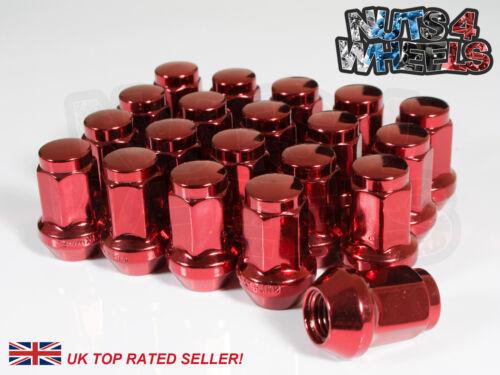 20 x Red Hex écrous De Roue M12x1.5 Pour Mazda MX5 EUNOS Roadster Sport Miata