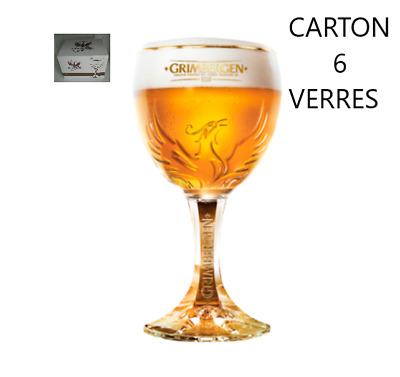 6 sous-bocks 6 nouveaux verres à bière Grimbergen Phénix  25 cl