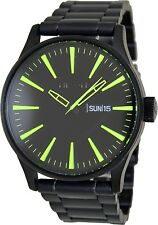 Nixon Men's Sentry Ss A3561256 Black Stainless-Steel Quartz Fashion Watch