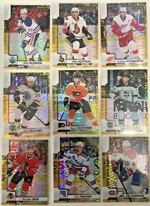 9-Card-Lot-2017-18-O-Pee-Chee-Platinum-Seismic-Gold-39-Serial-50-Rare-Bruins
