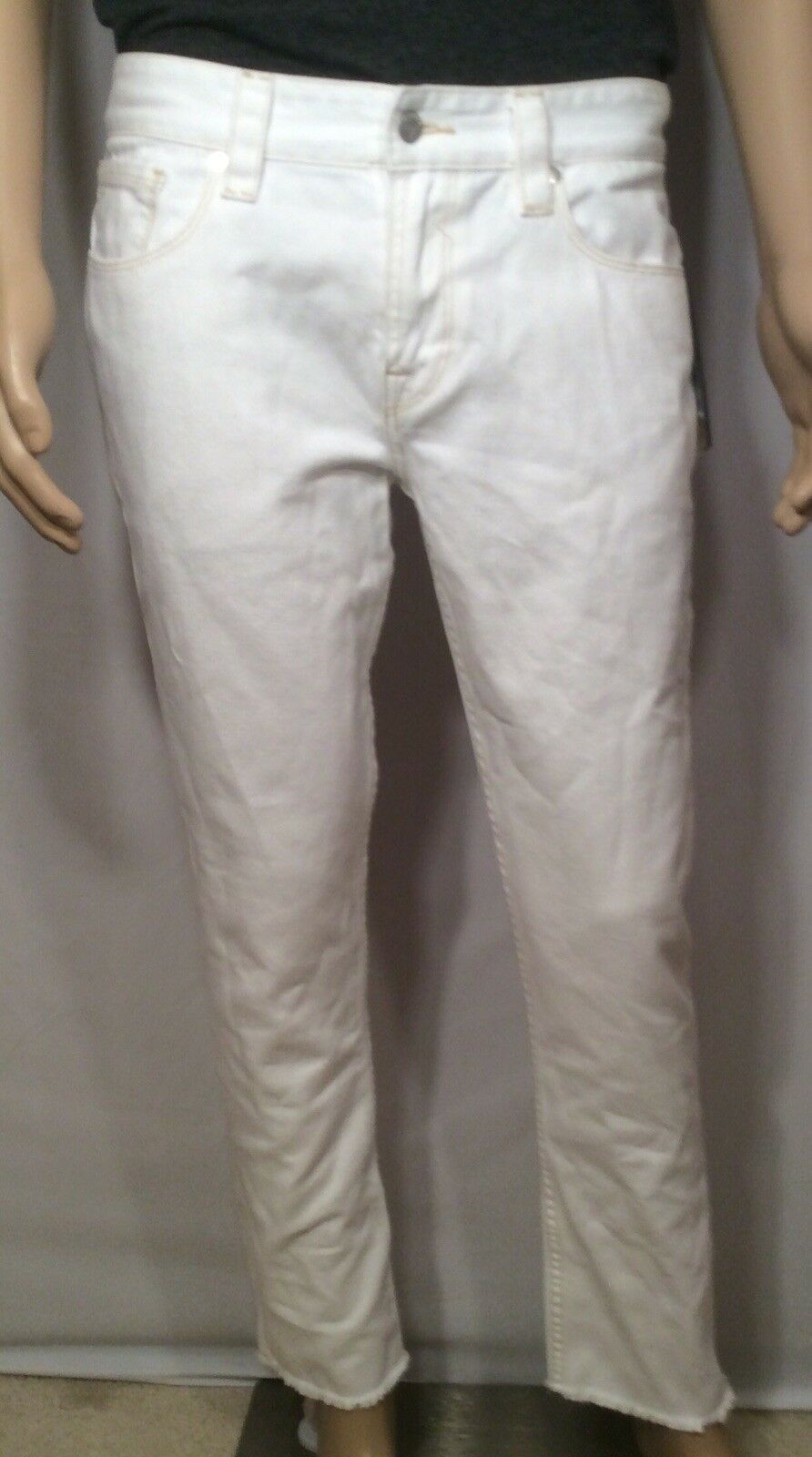 Guess Slim Tapered Mens Carpenter Jeans White 33 30
