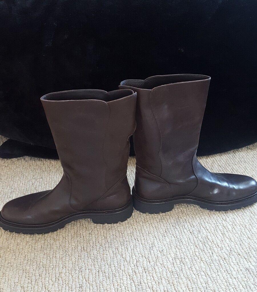 Armani Collezioni Braun Leder EU Stiefel Größe UK 8 EU Leder 42 3b97c2