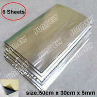 6 Sheets 5mm Glass Fibre Soundproofing & Heat Insulation Sheet Closed Cell Foam