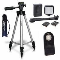 Vivitar 50 Pro Tripod + 36 Video Light Led + Remote For Canon Eos Rebel T3i T5i