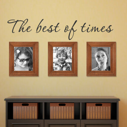 Family Wall Decal The Best of Time Word Photo Frame Vinyl Living Room Home Decor