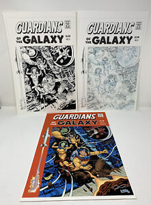 GUARDIANS-OF-THE-GALAXY-6-VARIANT-COVER-ORIGINAL-ART-SET-BY-PAOLO-JOE-RIVERA
