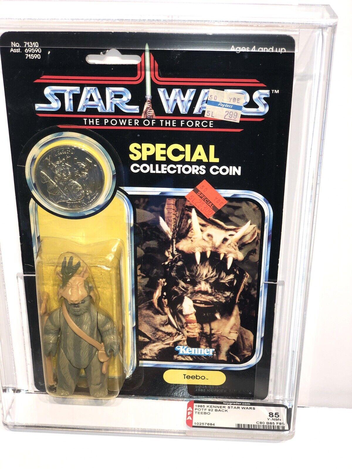 AFA 85 Kenner 1985 Star Wars Ewok Teebo 80-85-85 POTF 92-back Unpunched Y-NM+
