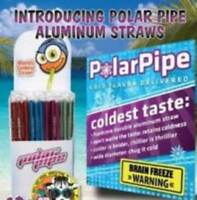 Set Of 5 Polar Pipe Cold Straws - Aluminum - Red, Green, Blue, Pink And Purple