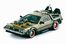 1/18 Sun Star 2712 Back to the Future III DeLorean 1981 Stainless Color Diecast