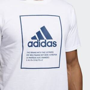 BRAND-NEW-30-adidas-Men-039-s-BADGE-OF-SPORT-EMBLEM-TEE-WHITE-DV1872