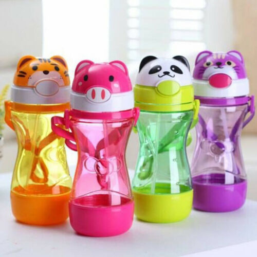 1Pc Cute baby kids straw cup drink water juice cup bottles  children gift