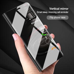 CUSTODIA-Per-Huawei-P20-Lite-Pro-Flip-Cover-Mirror-Clear-View-Specchio-Case