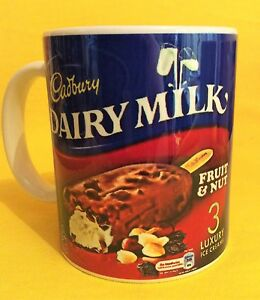 CADBURY-DAIRY-MILK-FRUIT-amp-NUT-ICE-CREAM-ICE-LOLLI-LOGO-ADVERT-ON-A-MUG